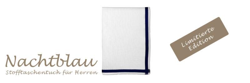 Nachtblau - Stofftaschentuch für Herren - Limitierte Edition in Box