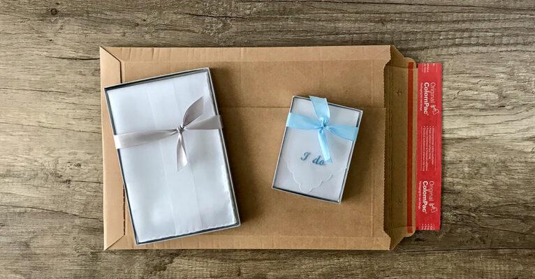 Stofftaschentücher in Geschenkbox in Verpackung