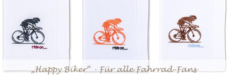 """Stofftaschentuch """"Satinrand"""" mit Option """"Happy Biker"""""""